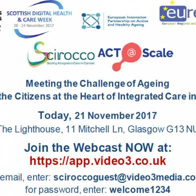"Join live Webcast NOW ""Putting the Citizens at the Heart of Integrated Care in Europe"""