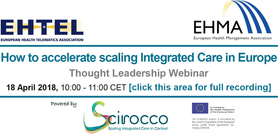 Thought Leadership Webinar – How to accelerate scaling-up of integrated care in Europe?